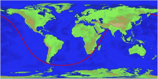 Langste rechte lijn op zee