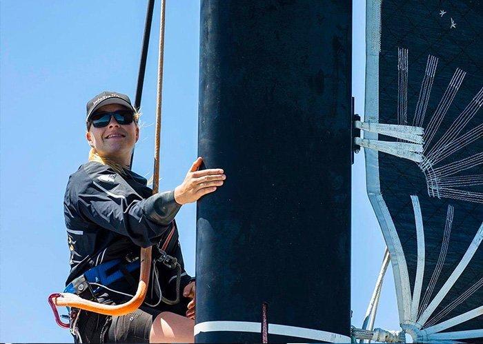 Rosalin Kuiper in de mast