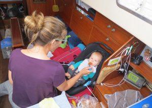 Zeilen met een baby