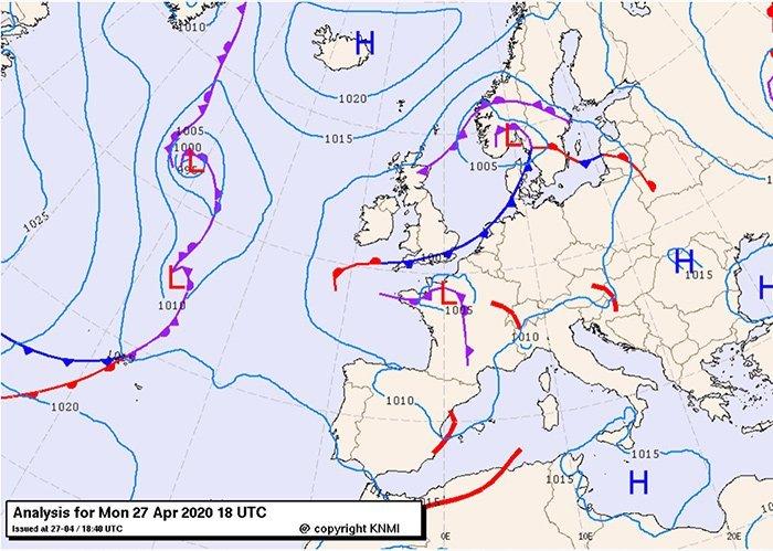 Bracknell Spanje 27 april 2020, betekenis wolken