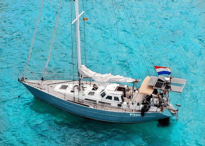 Uitrusting schip voor wereldreis
