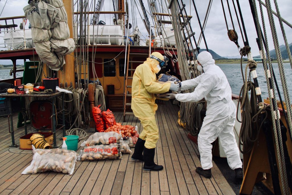 Boodschappenlijst voor 2,5 maand op zee