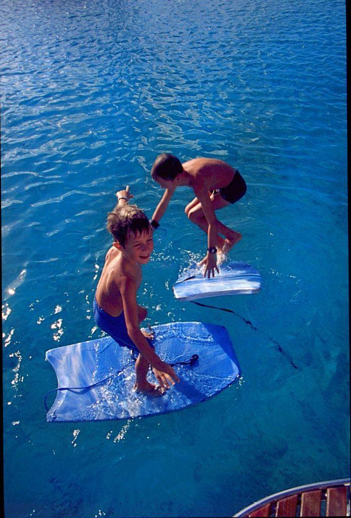 Op wereldreis met kinderen, Bonaire 1999