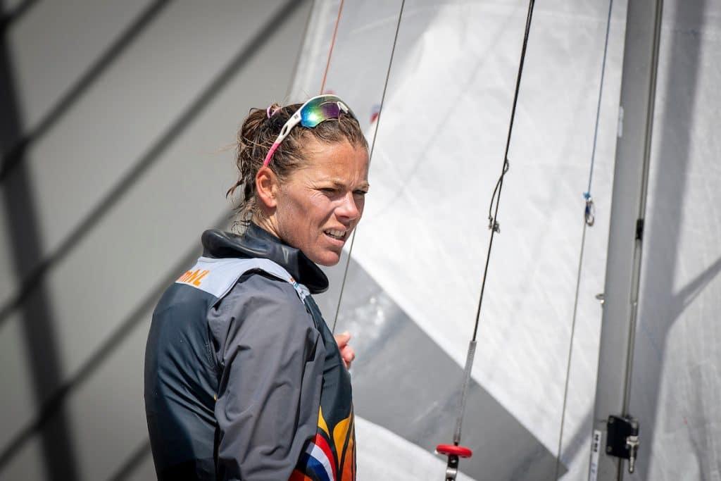 Lobke Berkhout olympische 470 zeilster