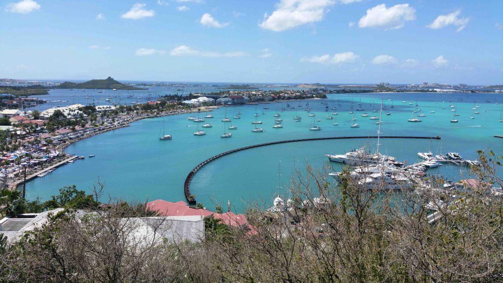 Ankeren op Sint-Maarten