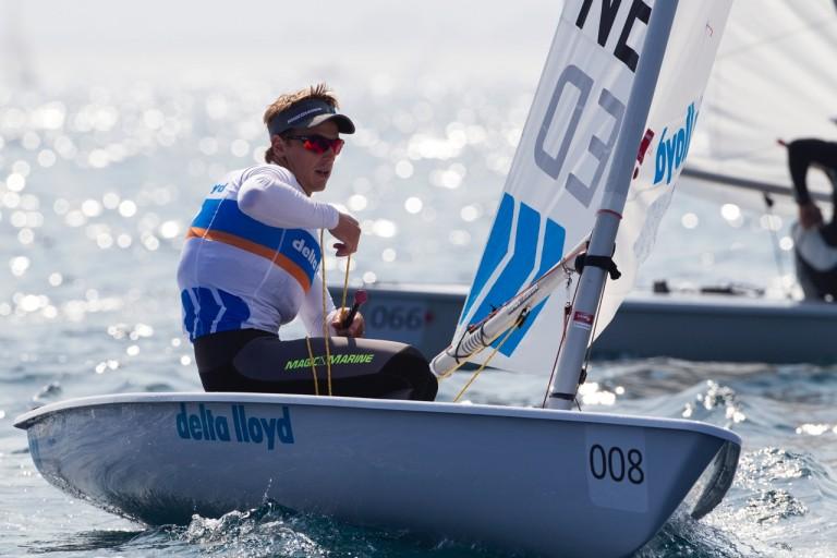 Nicholas Heiner werd wereldkampioen in de Laser klasse in 2014. Foto: Richard Langdon