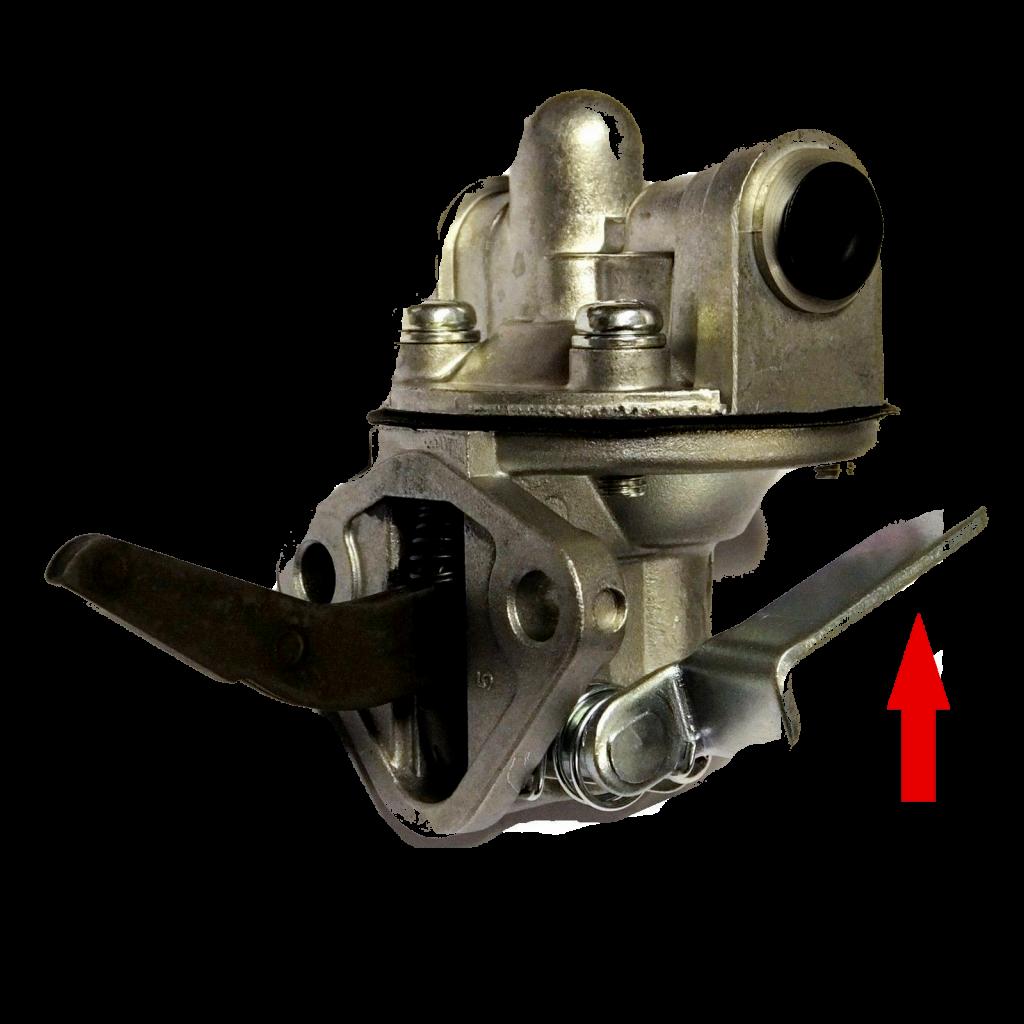 Check de brandstofpomp van de dieselmotor bij een storing.