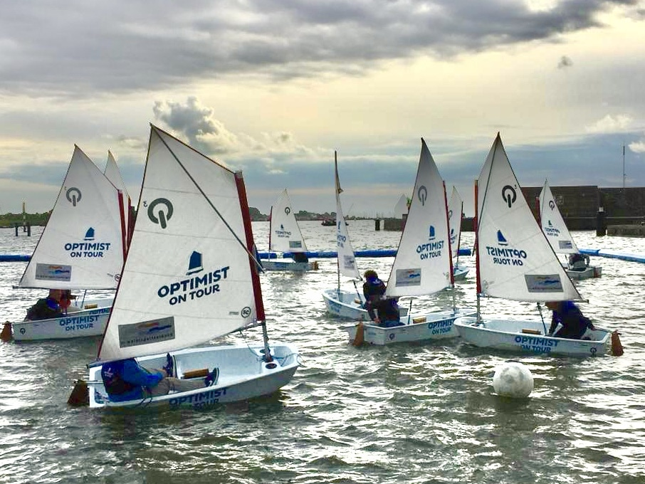 Optimist on Tour op de HISWA te water in 2019