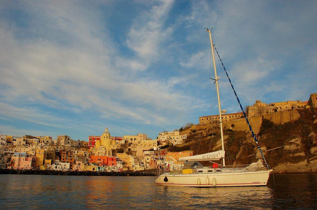 Dieter de Smet maakte in Italië een foto met kleurrijke achtergrond.