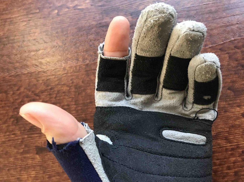 Winter zeilkleding: handschoenen