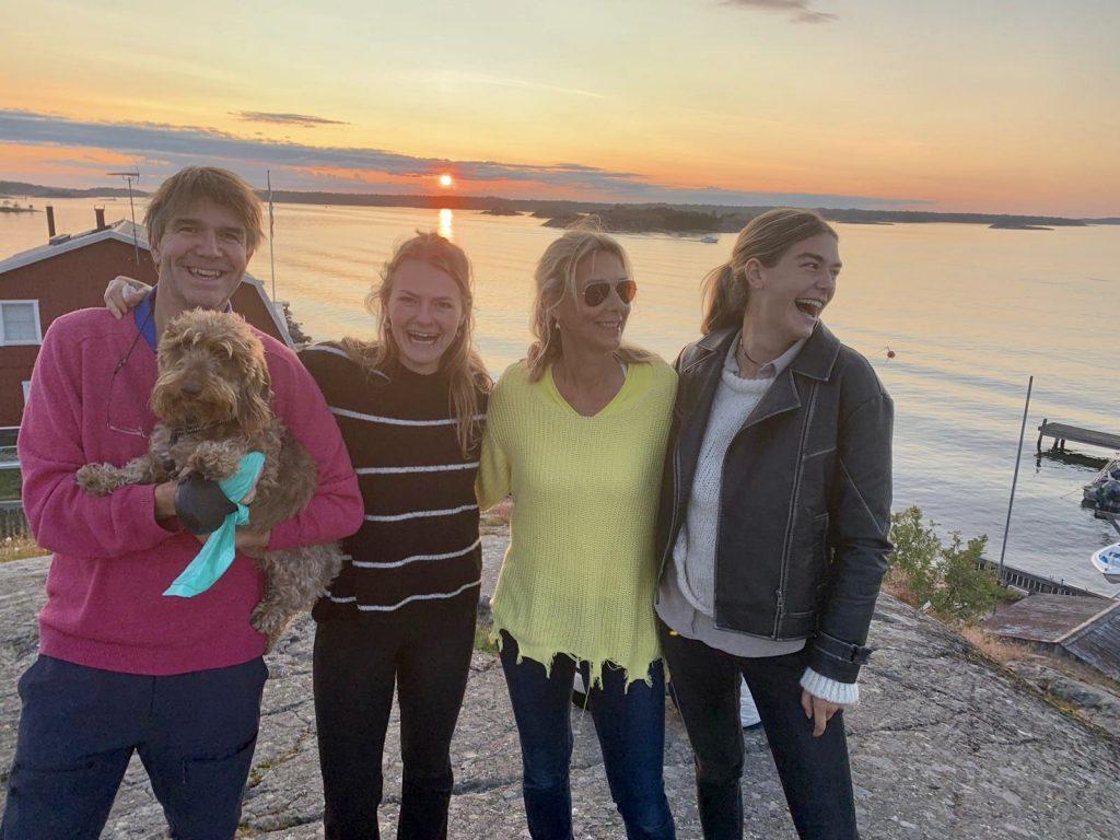 Familie Tibboel op het eiland Sandhamn in Zweden