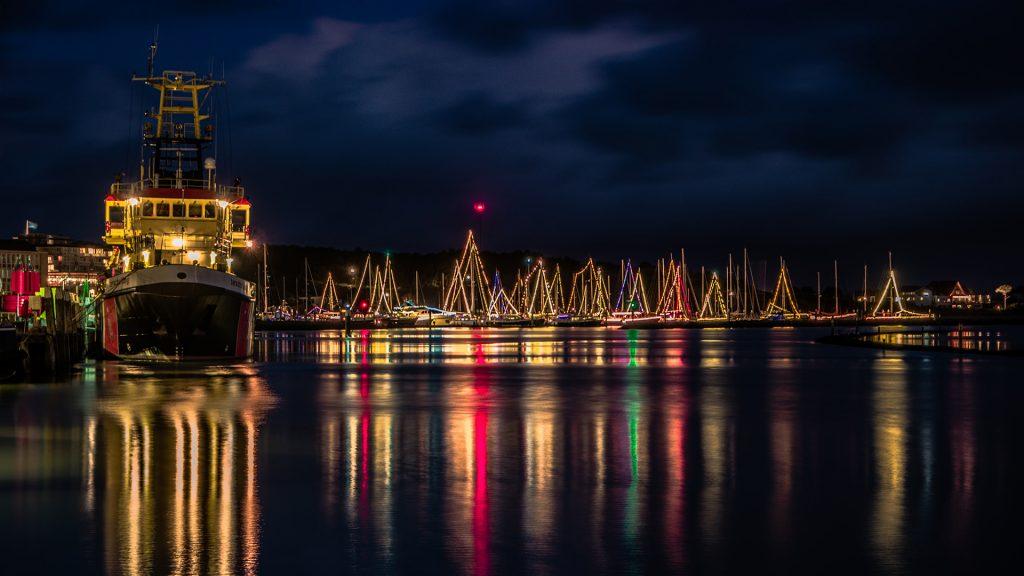 Terschelling haven lichtjes oud en nieuw kerst