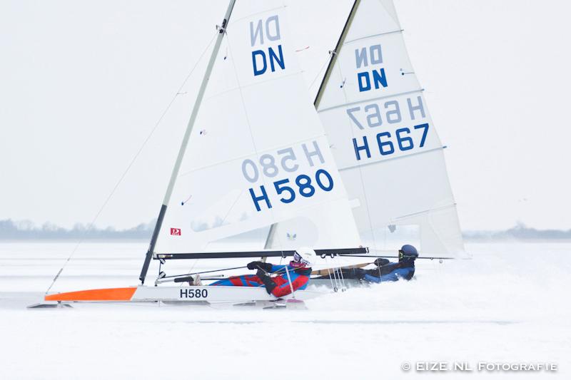 NK ijszeilen 2013 met Johan Tolsma