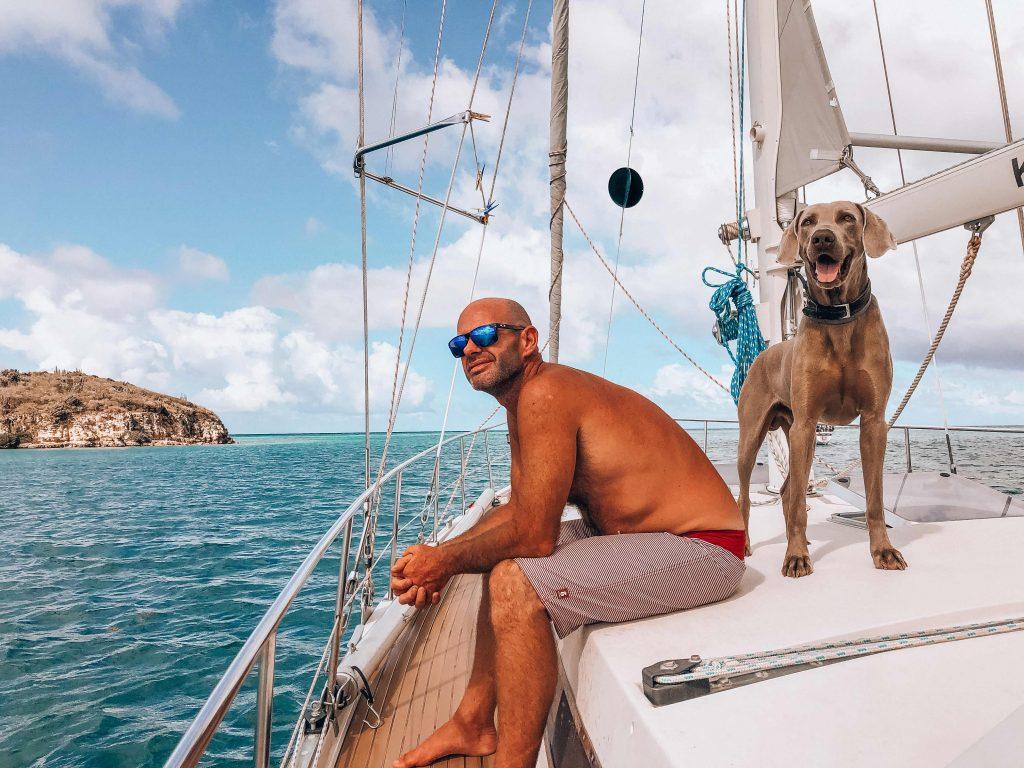 Kelly spotlight partner David en hond Floyd