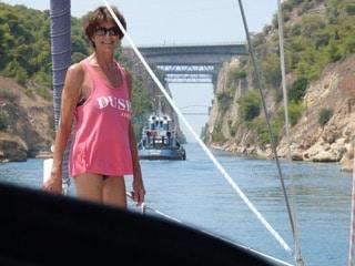 Mary op de zeiltocht Griekenland