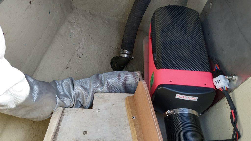 Dieselkachel montage