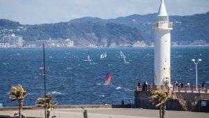 Olympische Spelen Tokio baai Enoshima