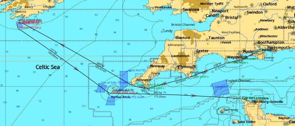Fastnet Race Route