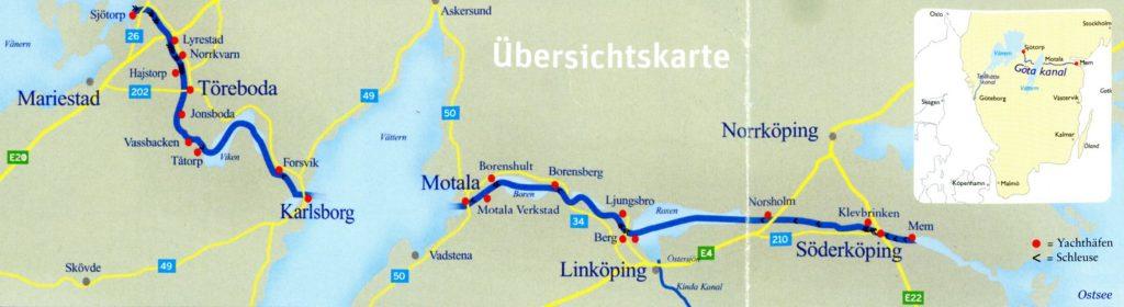 Wulp Aak Kustzeilers Routekaartje Götakanaal