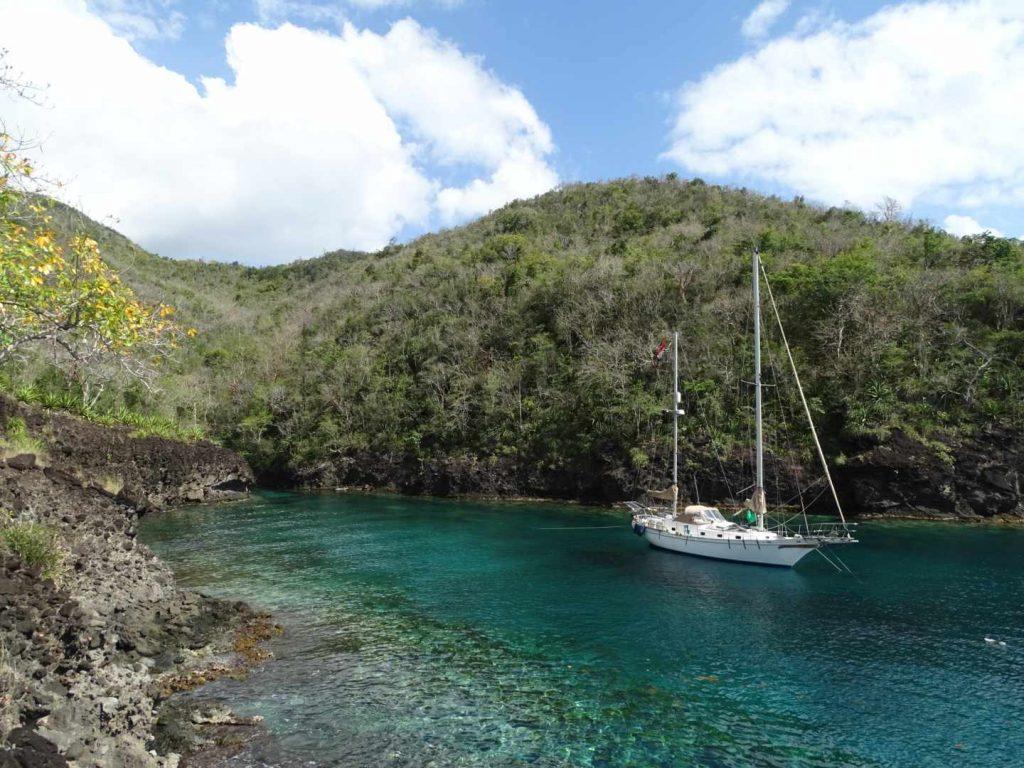 Zeilen naar onbewoond eiland Martinique