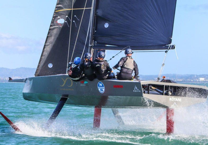 De AC9F, de boot voor de Youth America's Cup